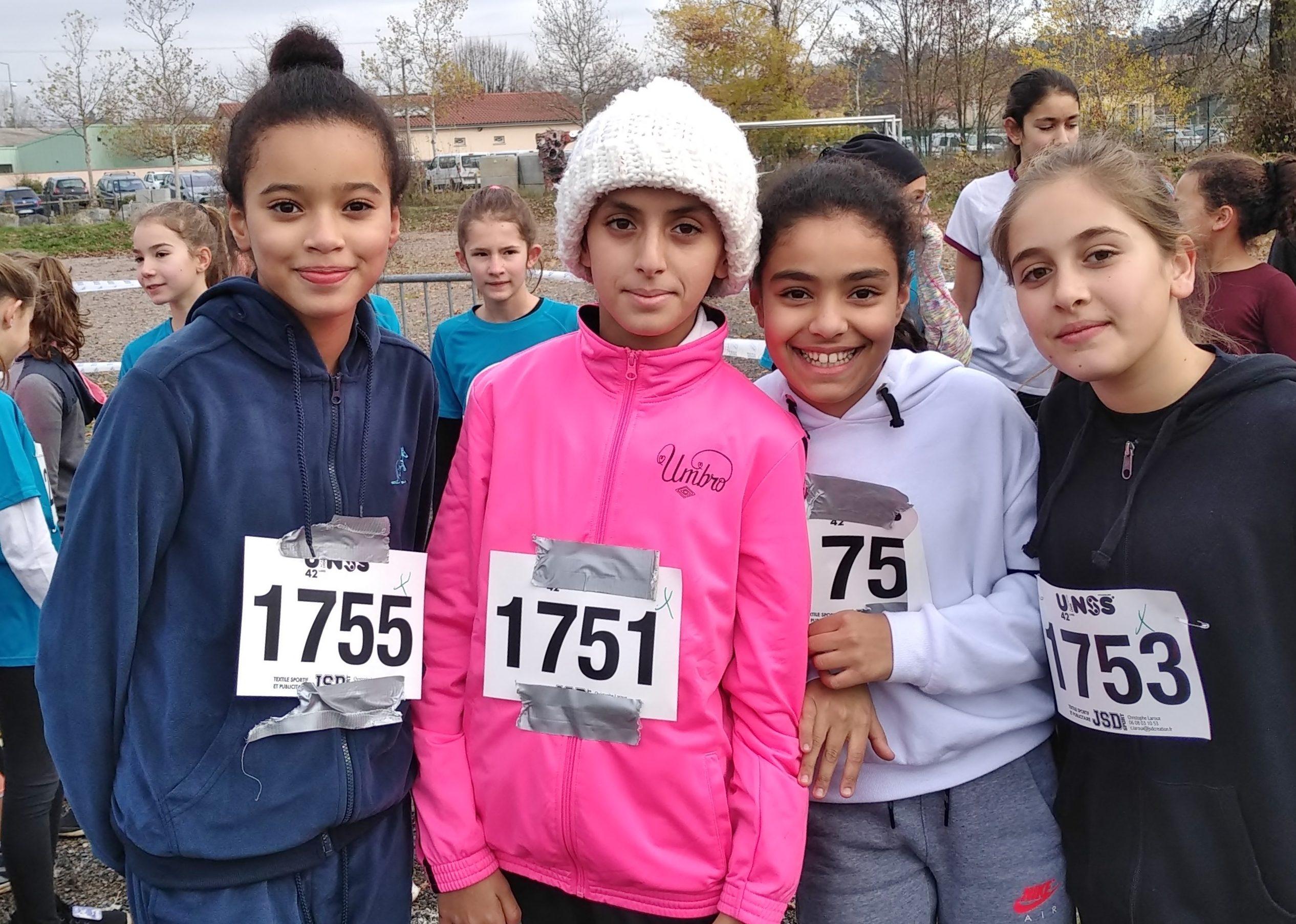 Marwa, Mélissa, Kaoutar et Selma elèves de 6ème du collège Marc Seguin