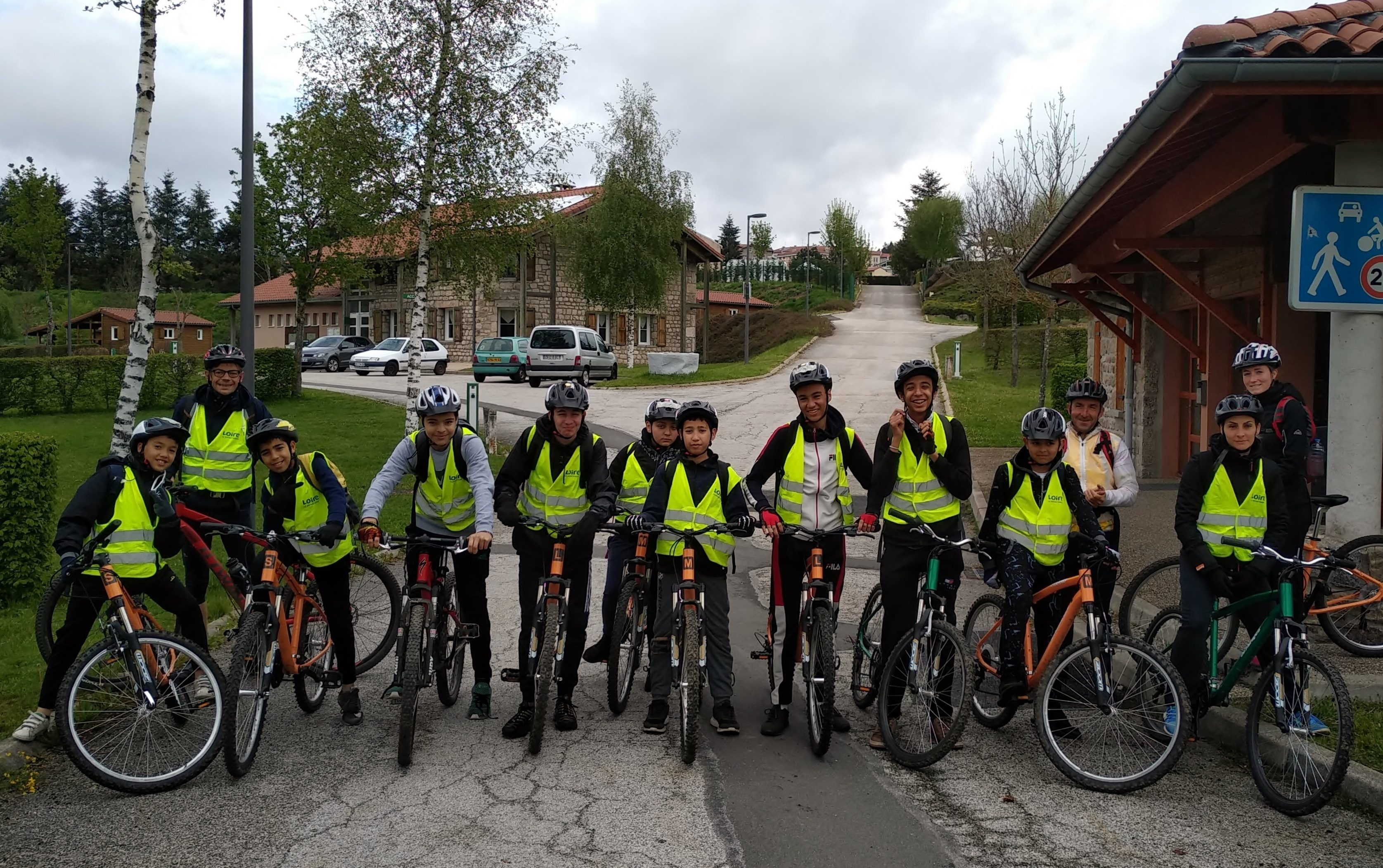 Le groupe de la section sportive VTT